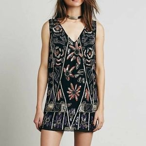 Free People Beaded Sequin Shift Dress